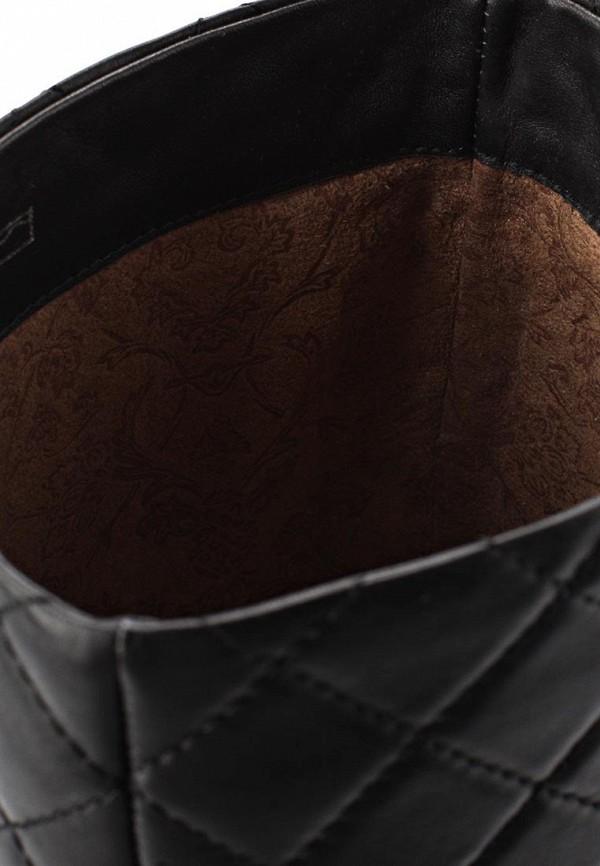 фото Сапоги женские на танкетке Gerzedo GE007AWCPA12, черные кожаные