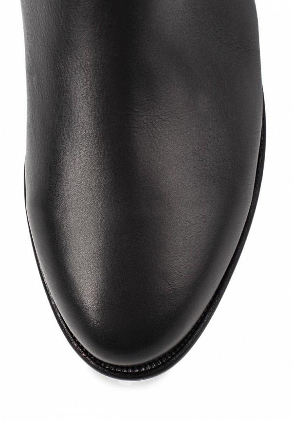 фото Женские сапоги-ботфорты Gerzedo GE007AWCPA17, черные кожаные