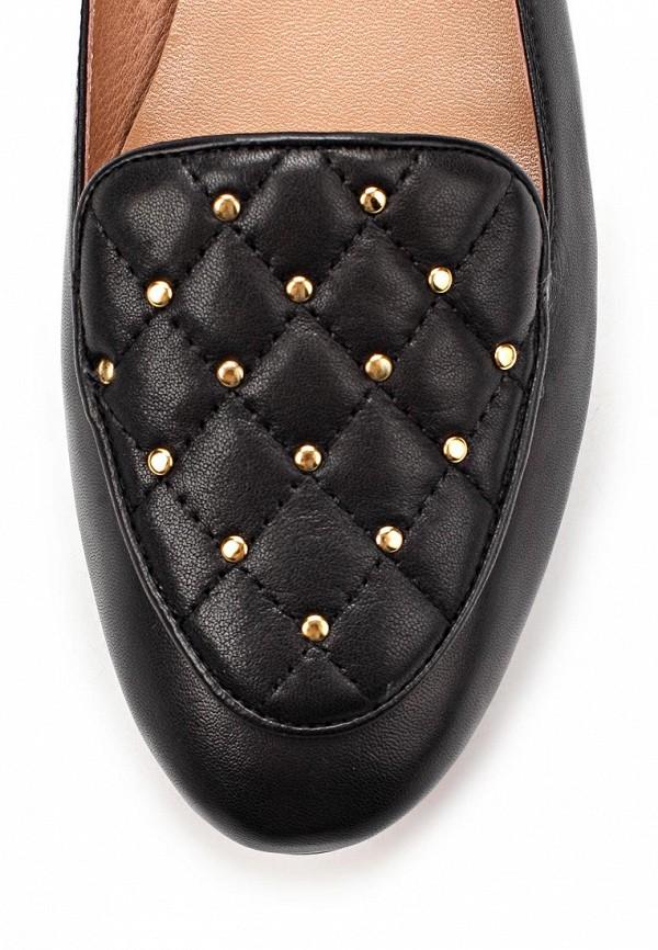 фото Лоаферы женские Gerzedo GE007AWCPA32, черные кожаные