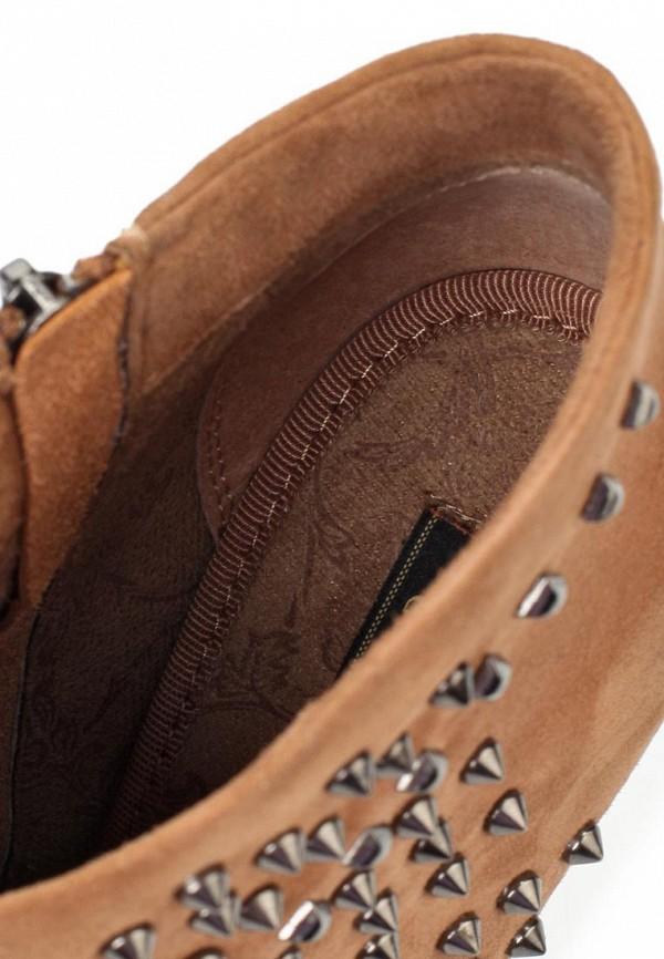 фото Ботильоны на платформе и высоком каблуке Gerzedo GE007AWJD008, коричневые