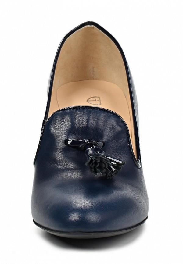 фото Туфли-лоферы на каблуке Giotto GI514AWASI87, темно-синие