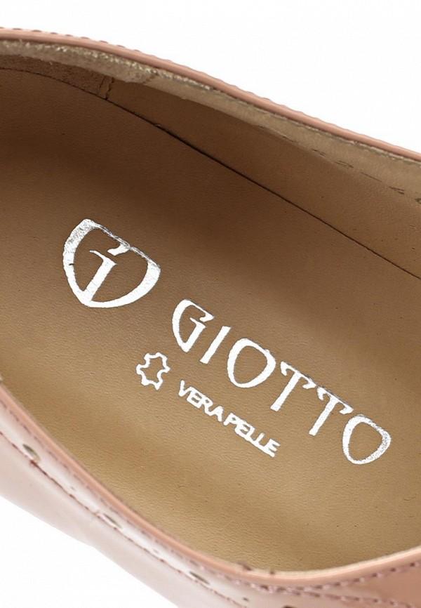 фото Полуботинки женские кожаные Giotto GI514AWASI93, бежевые лакированные