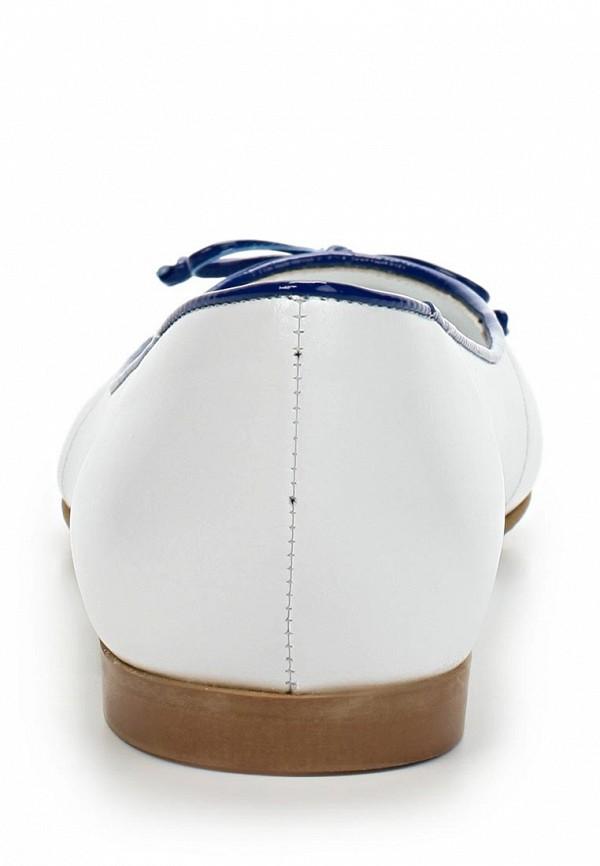 фото Балетки с острым носом Giotto GI514AWBLZ02, белые кожаные