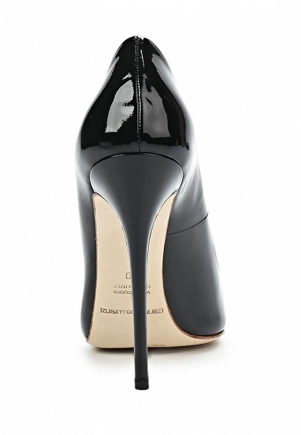 фото Туфли на шпильке Gianmarco Lorenzi GI634AWAWC80, черные (кожа, лак)