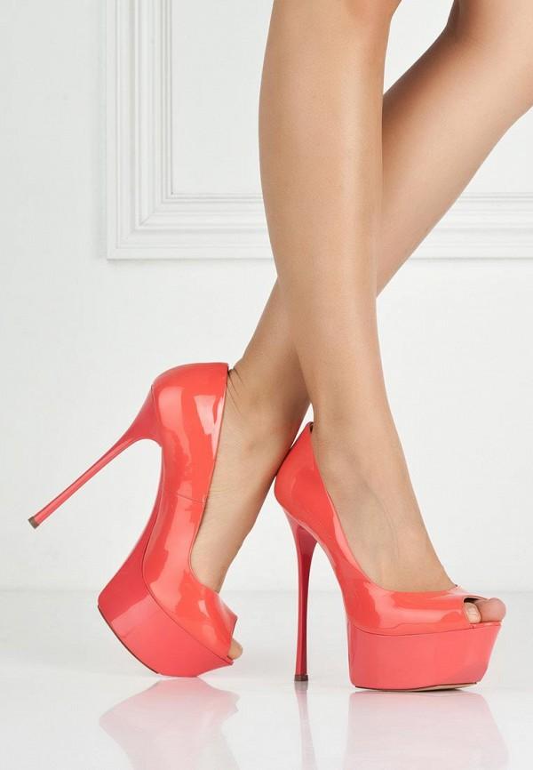 фото Туфли на платформе Gianmarco Lorenzi GI634AWAWC86, красные (кожа, лак)