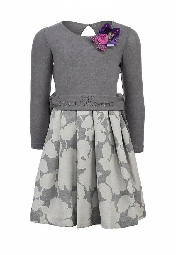 Платье Gioia di Mamma GI639EGLE517. Цвет: серый