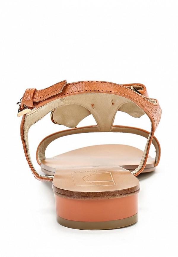 фото Сандали женские на каблуке GLAMforever GL854AWBIN02, оранжевые