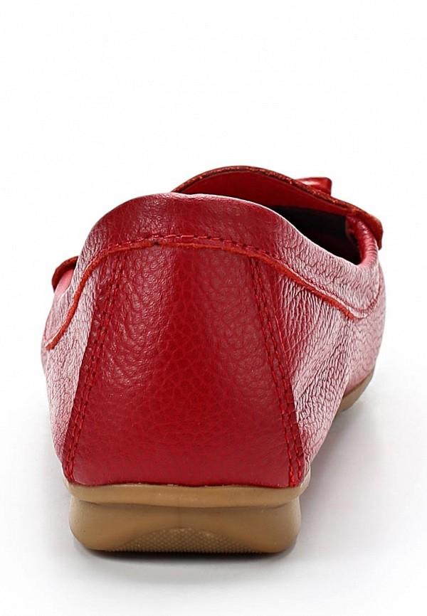 фото Мокасины женские Goergo GO643AWBEW56, красные кожаные
