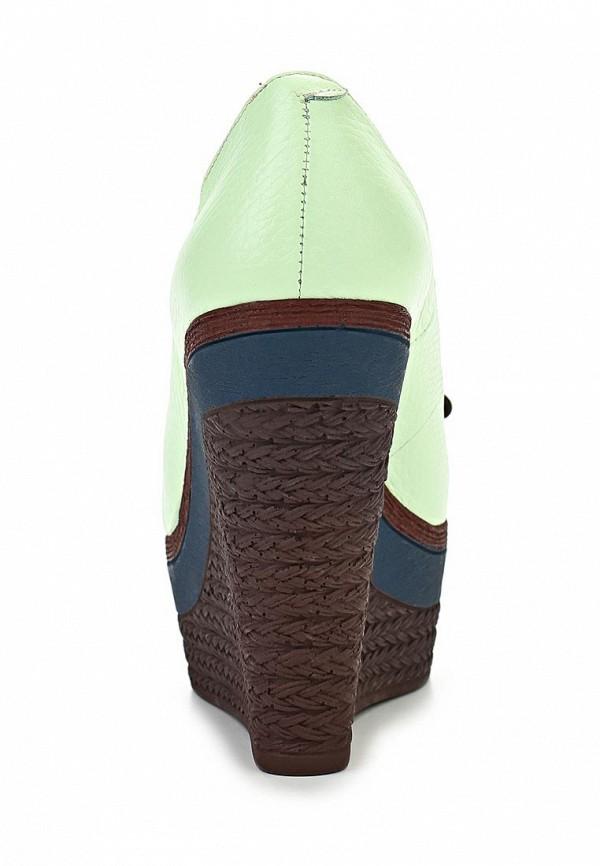 фото Туфли на танкетке Grand Style GR025AWAPR38, зеленые с открытым носом