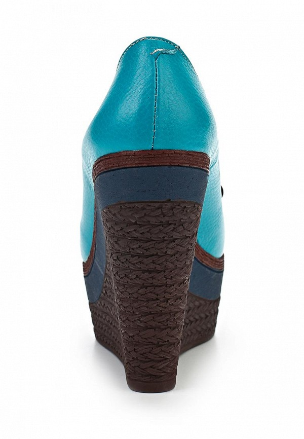 фото Туфли на танкетке Grand Style GR025AWAPR40, голубые с открытым носом