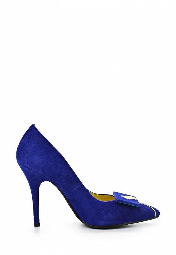 фото Женские туфли на каблуке Grand Style GR025AWAPS12, синие замшевые