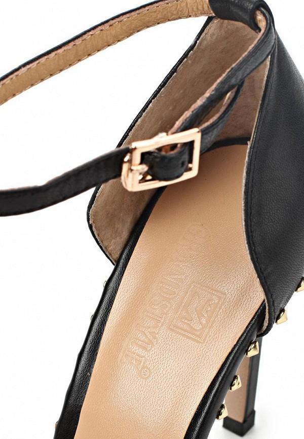 фото Женские туфли на каблуке Grand Style GR025AWAPS81, черные кожаные