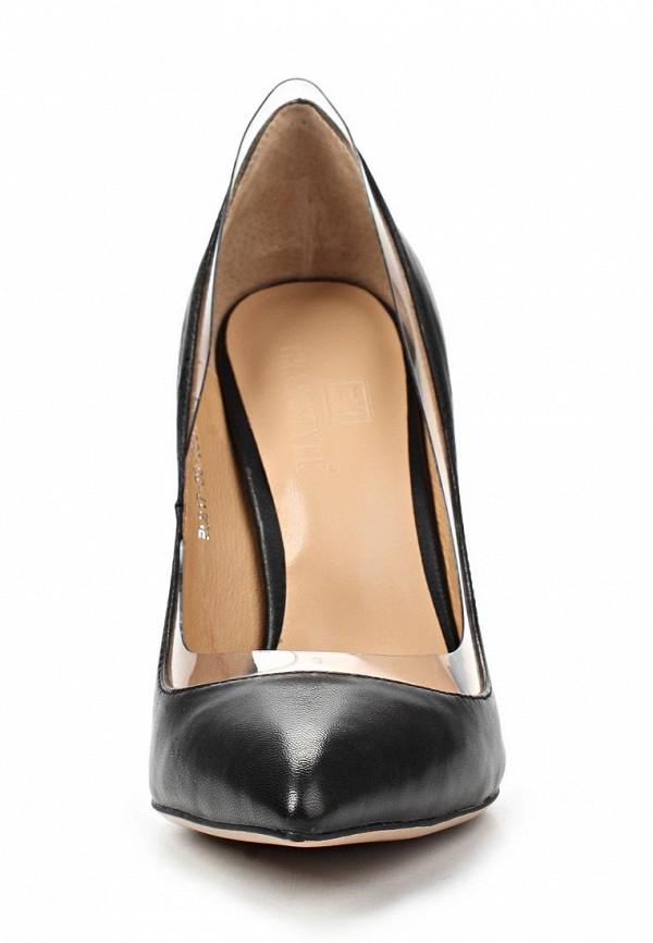 фото Женские туфли на каблуке-шпильке Grand Style GR025AWAPS90, черные (кожа)