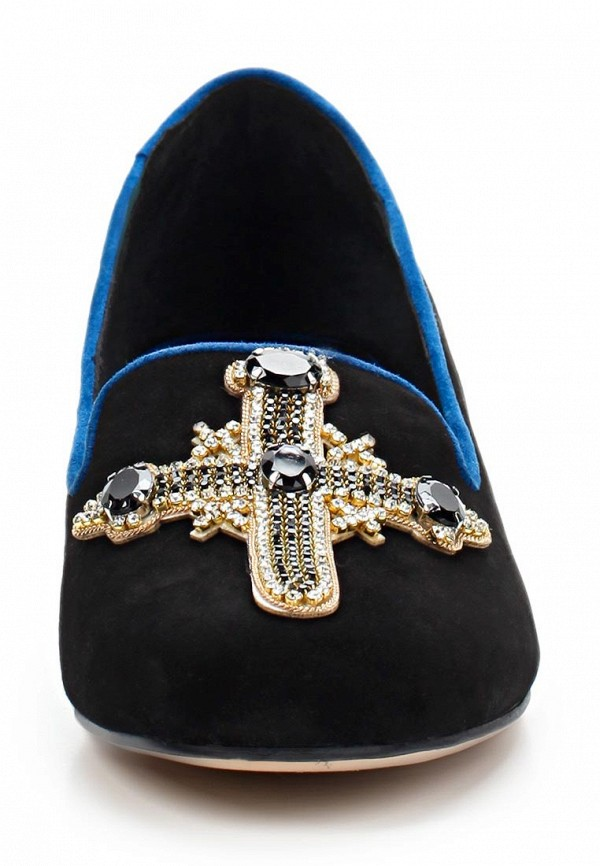 фото Лоферы женские на каблуке Grand Style GR025AWBJA08, черные