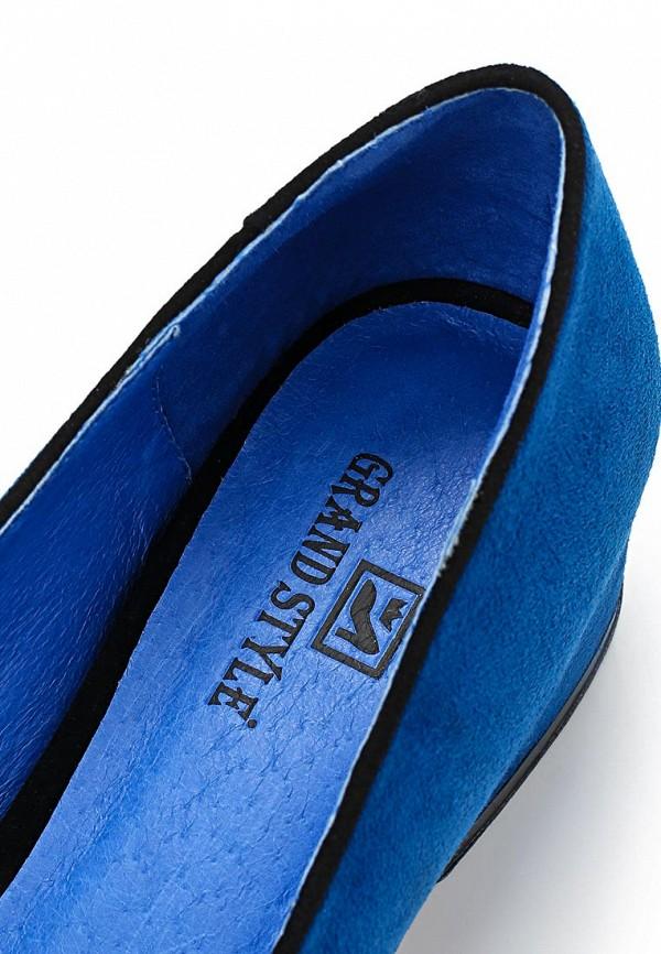фото Лоферы женские на каблуке Grand Style GR025AWBJA23, синие