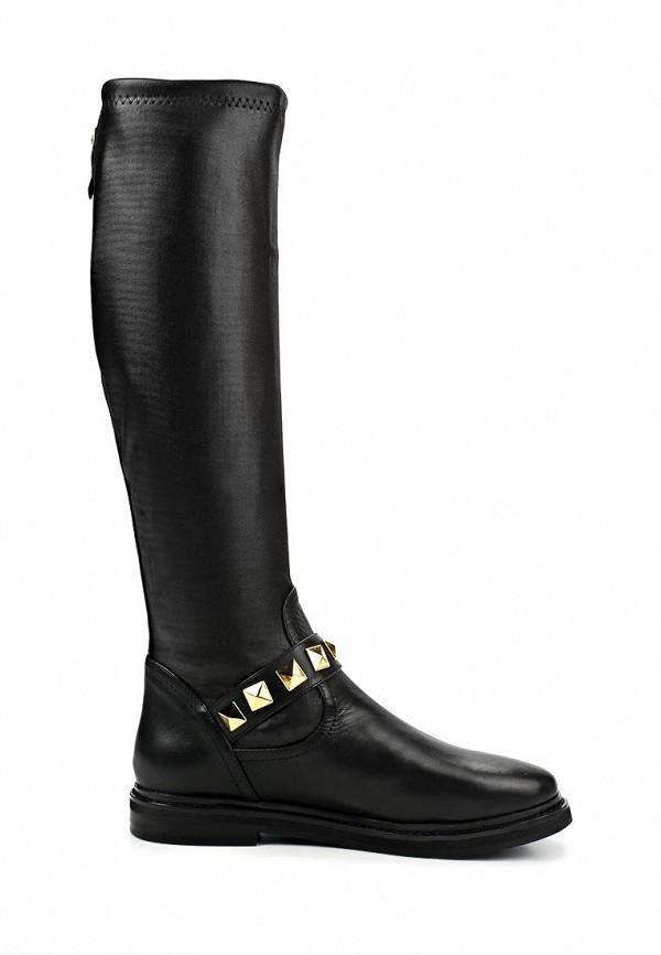фото Сапоги на плоской подошве Grand Style GR025AWCDD71, черные (кожа)