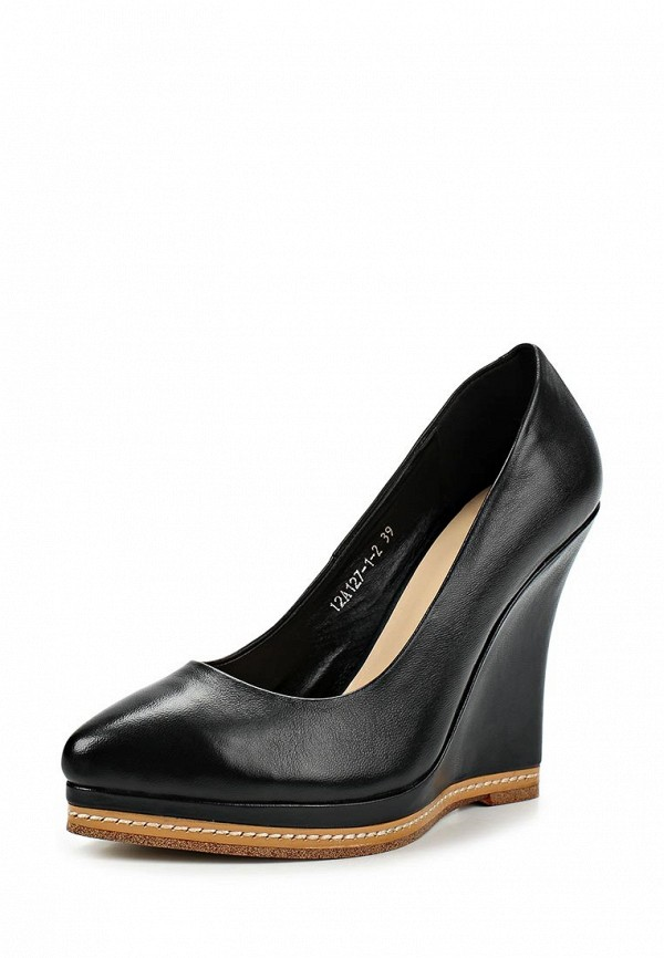 фото Туфли на танкетке Grand Style GR025AWCDD85, черные кожаные