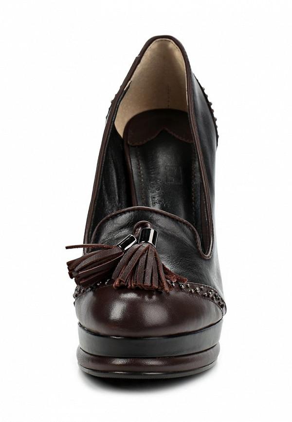 фото Туфли на платформе и каблуке Grand Style GR025AWCDD86, черно-коричневые
