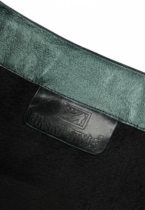 фото Сапоги на платформе и шпильке Grand Style GR025AWCDD90, черные (кожа)