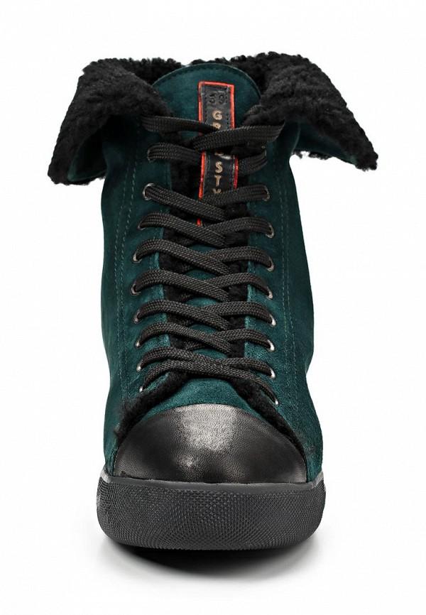 фото Кеды женские Grand Style GR025AWCHP58, темно-зеленые
