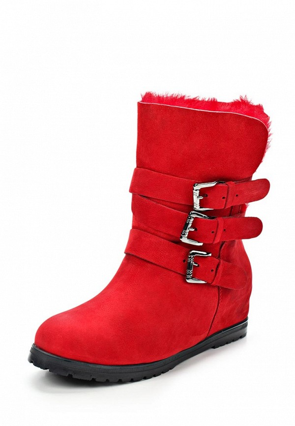 фото Женские полусапожки Grand Style GR025AWCHP71, красные