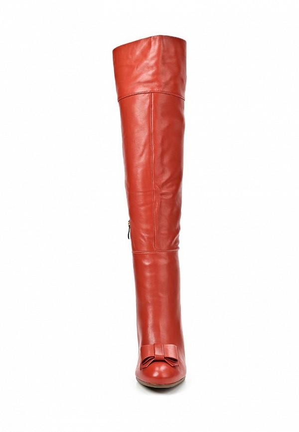 фото Женские ботфорты на каблуке Grand Style GR025AWCHP81, красные (кожа)