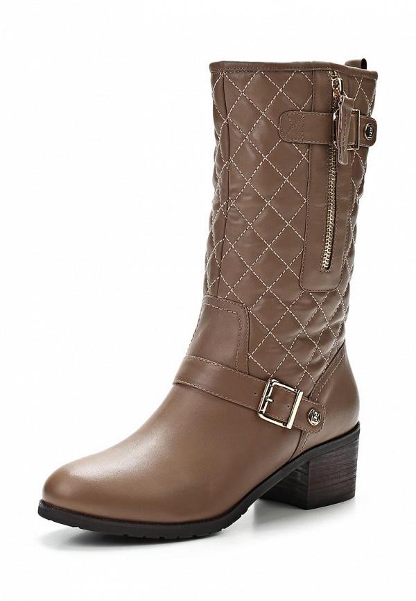 фото Сапоги женские на толстом каблуке Grand Style GR025AWCHP83, коричневые