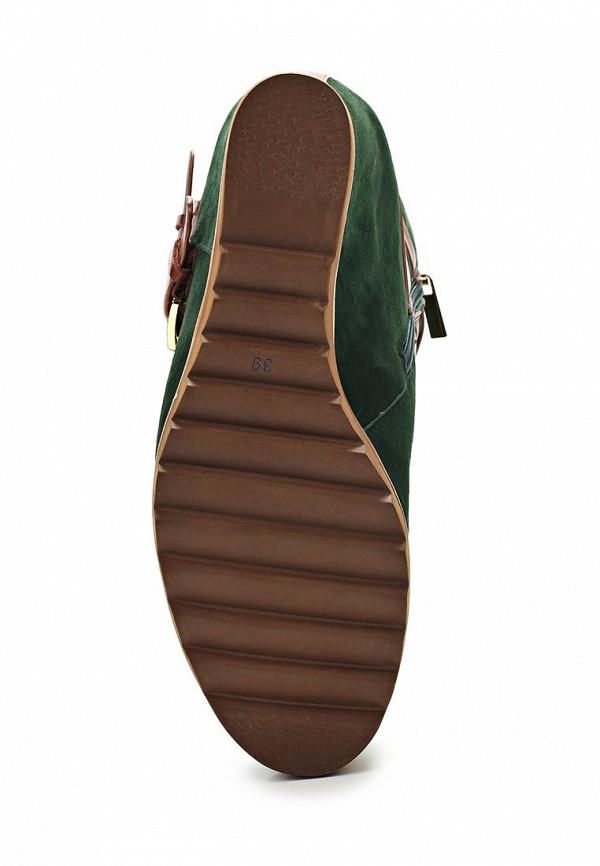 фото Женские полусапожки на танкетке Grand Style GR025AWCHP86, зеленые