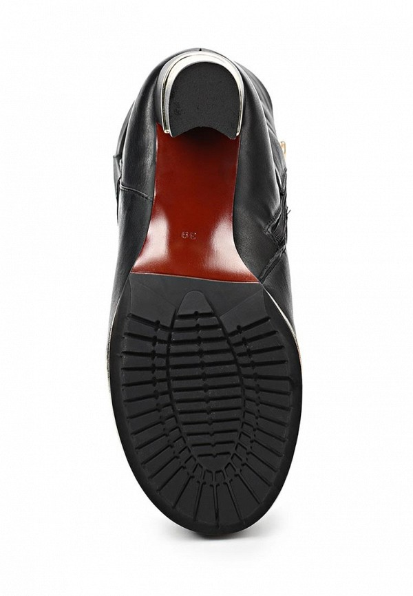 фото Сапоги женские на каблуке Grand Style GR025AWCHP88, черные на шнуровке