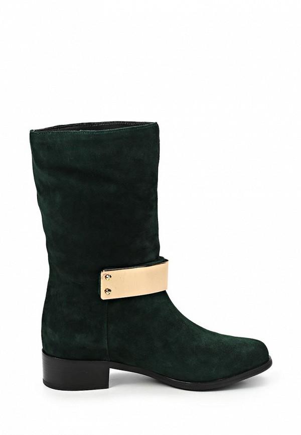 фото Сапоги женские на низком каблуке Grand Style GR025AWCHP89, зеленые