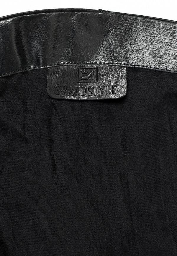фото Сапоги женские на танкетке Grand Style GR025AWCHP91, черные кожаные