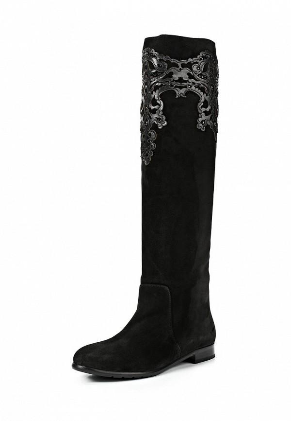 фото Сапоги женские Grand Style GR025AWCNP94, черные замшевые