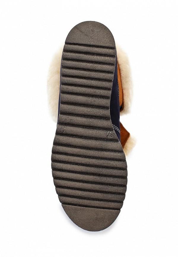 фото Ботинки женские Grand Style GR025AWKA249, темно-синие с мехом