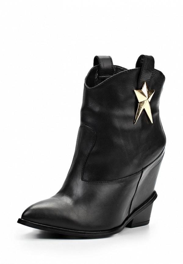 фото Ботильоны на низком каблуке Grand Style GR025AWLD062, черные