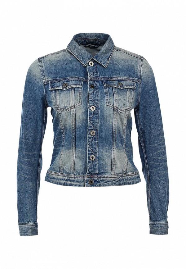 Куртка джинсовая G-Star GS001EWKH073. Цвет: синий