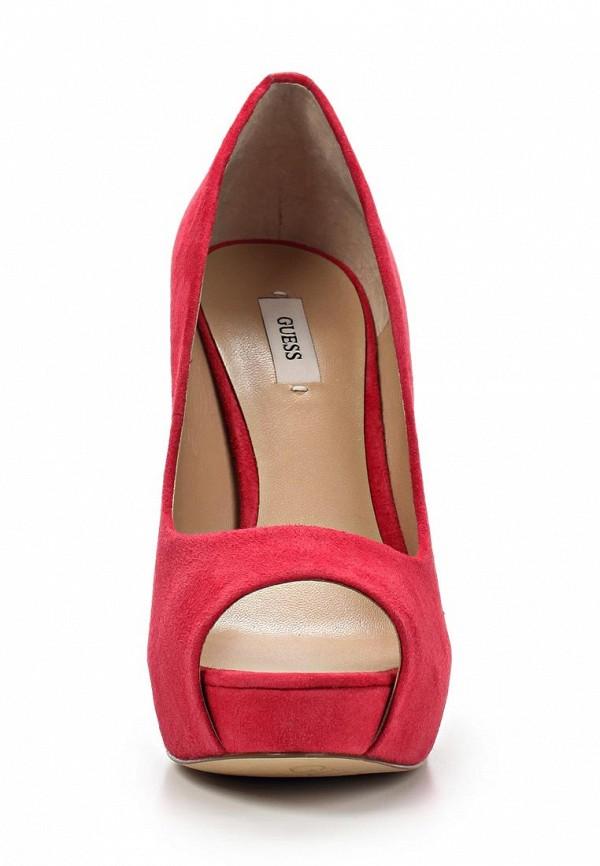 фото Туфли на платформе и каблуке Guess GU460AWAVW35, красные с открытым носом
