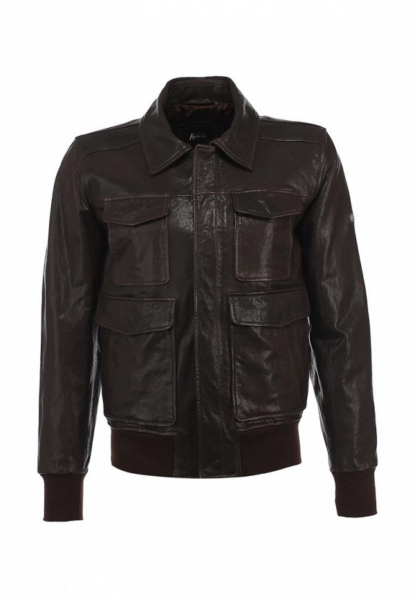 Куртка кожаная Guess by Marciano GU643EMKA919. Цвет: коричневый