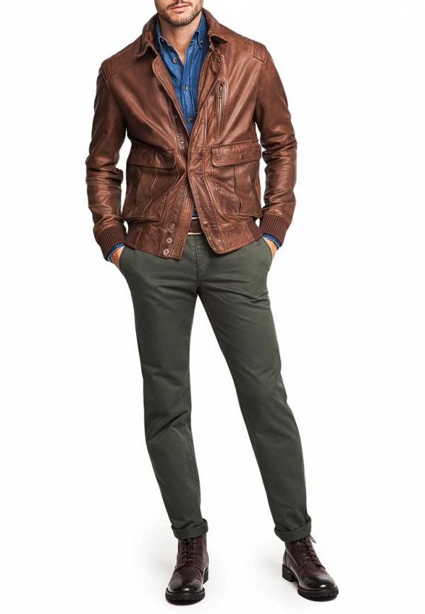 С чем носят коричневую кожаную куртку мужскую