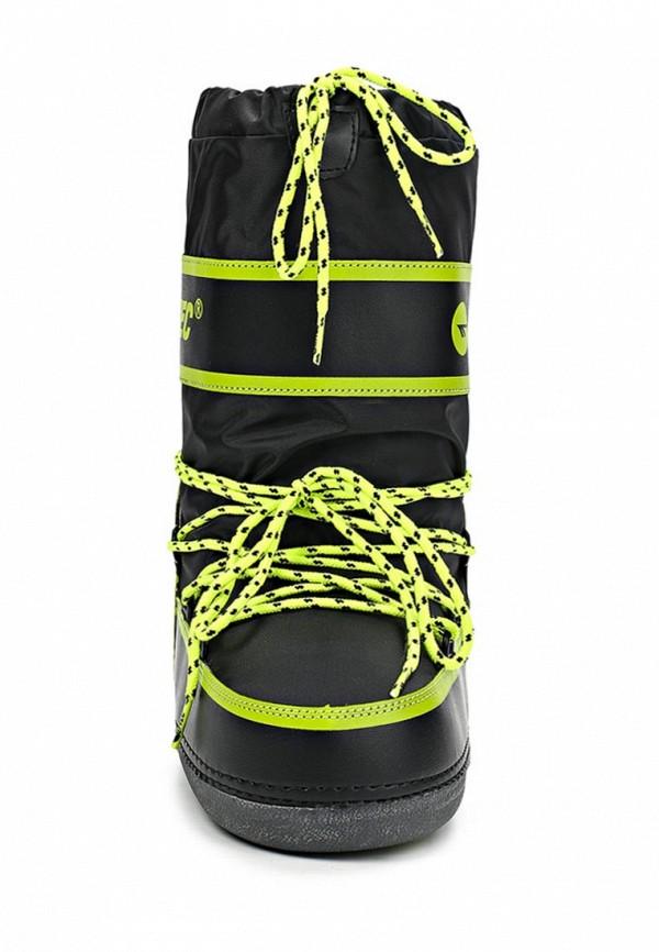 фото Женские сапоги-луноходы Hi-Tec HI395AWCMV25, черные с зеленым