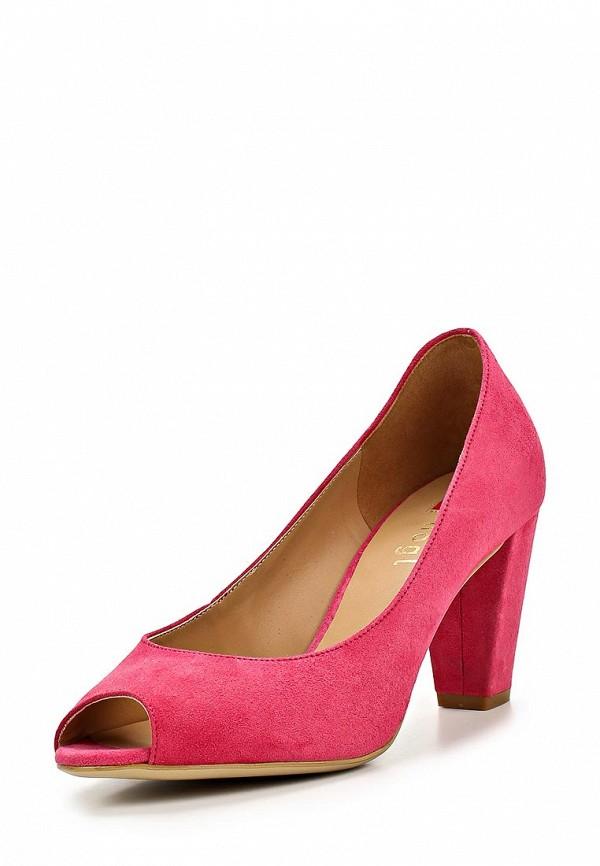 фото Туфли на толстом каблуке Hogl HO027AWAHF00, розовые замшевые