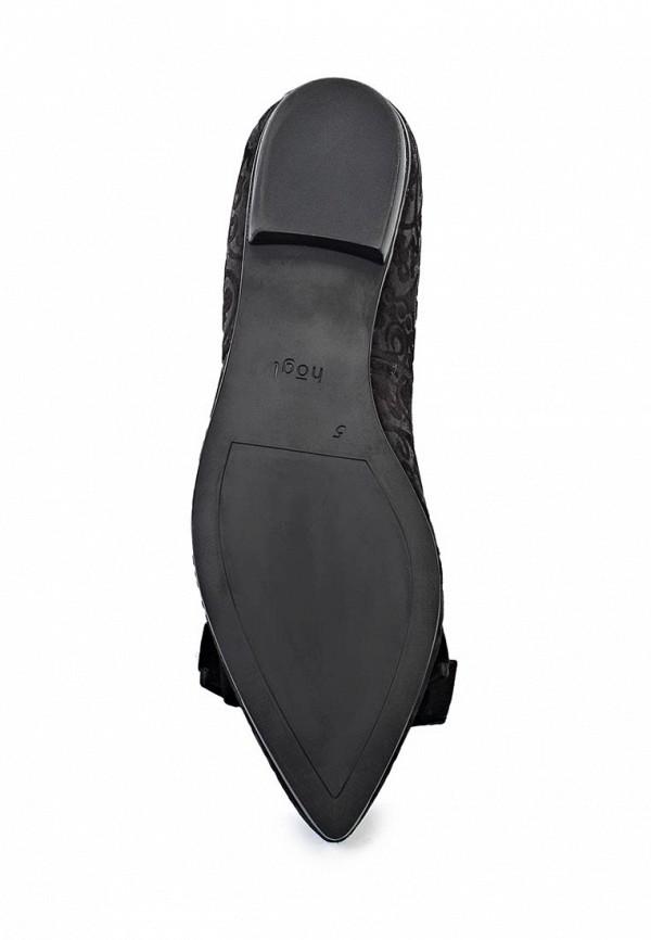 фото Балетки женские Hogl HO027AWKK915, черные кожаные