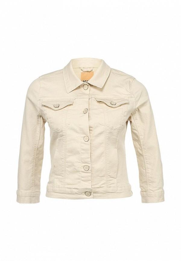 Куртка джинсовая Ichi IC314EWBAK32. Цвет: бежевый