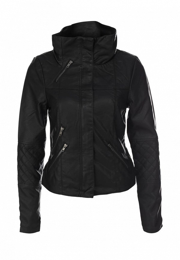 Куртка кожаная Ichi IC314EWJU447. Цвет: черный
