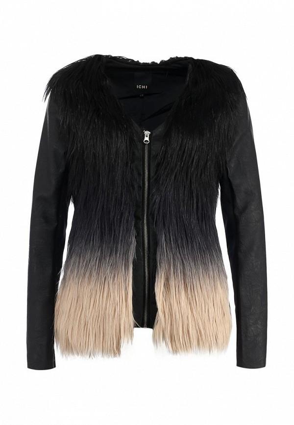 Куртка кожаная Ichi IC314EWKQ474. Цвет: черный