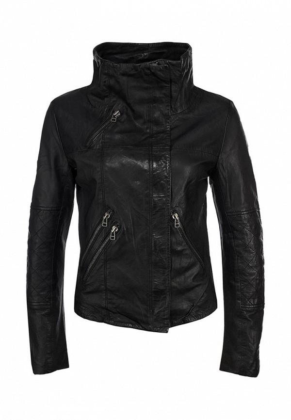 Куртка кожаная Ichi IC314EWKQ675. Цвет: черный