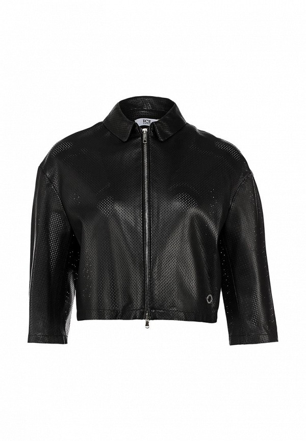 Куртка кожаная Ice Iceberg IC415EWABK96. Цвет: черный