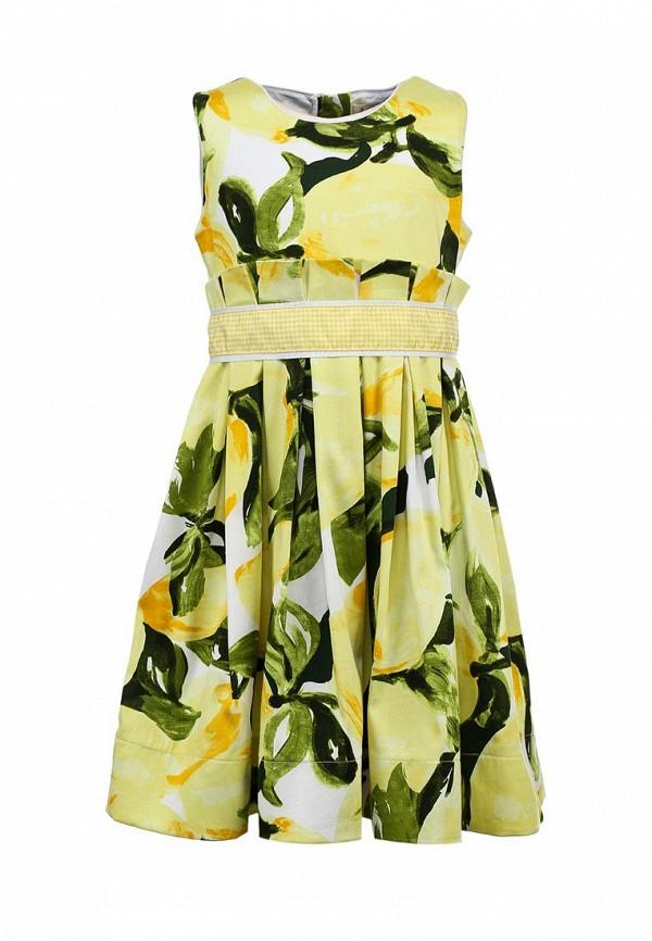 Платье Il MIO tutto. Цвет: желтый, зеленый