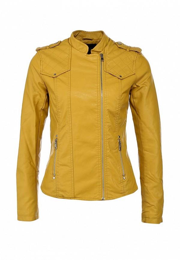 Куртка кожаная Incity IN002EWBAX94. Цвет: желтый