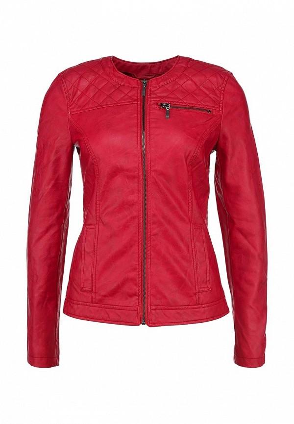 Куртка кожаная Incity IN002EWBAX97. Цвет: красный