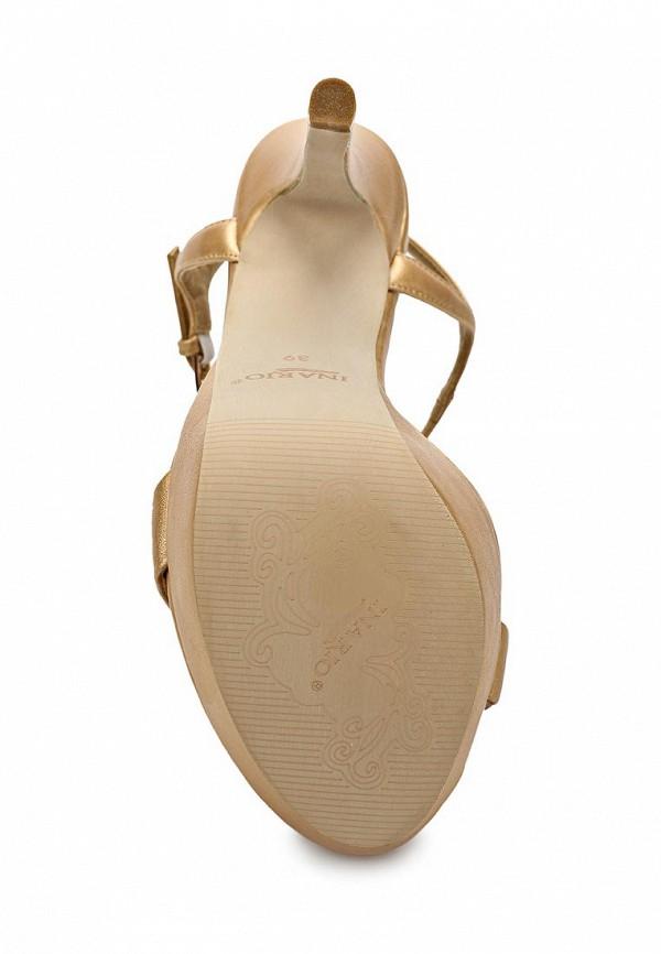 фото Босоножки на высоком каблуке Inario IN029AWBDZ65, бежевые